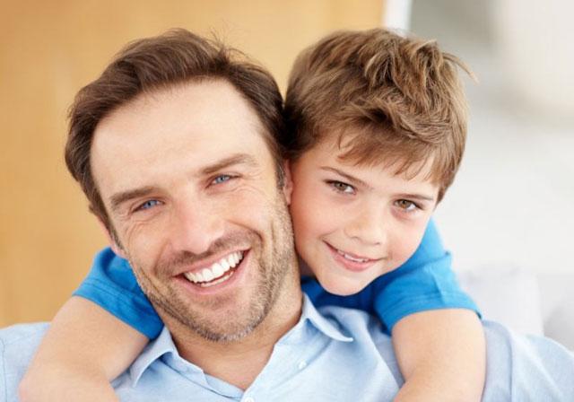 Papà e figlio insieme